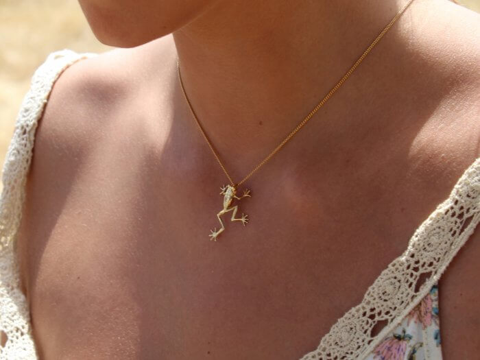 Salvari Jewellery Eco Jewellery Pendant Treefrog